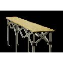 Table Pliante en Bois - 2,85m x 40cm - Hauteur réglable