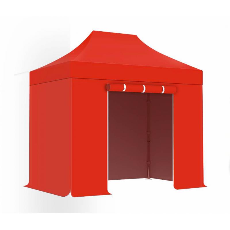 PACK Acier 30mm - 2x3 - Medium - Tente Pliante, Gazebo - Rouge